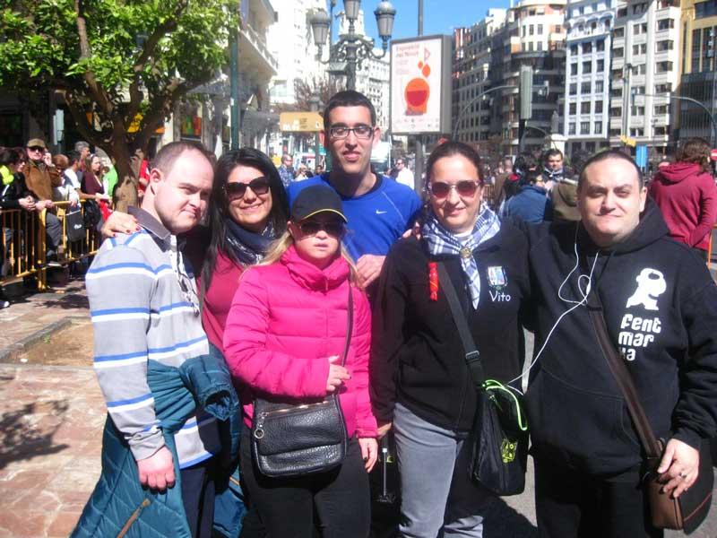 Actividad en Fallas de Valencia organizada por Fent Marxa - CEEME